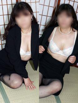千葉危険な情事-喪服の未亡人@なおこ 1枚目